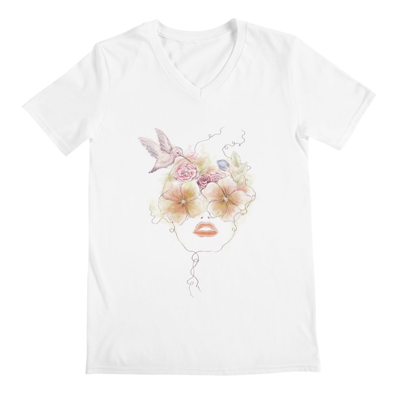 In Full Bloom Men's V-Neck by Winterglaze's Artist Shop