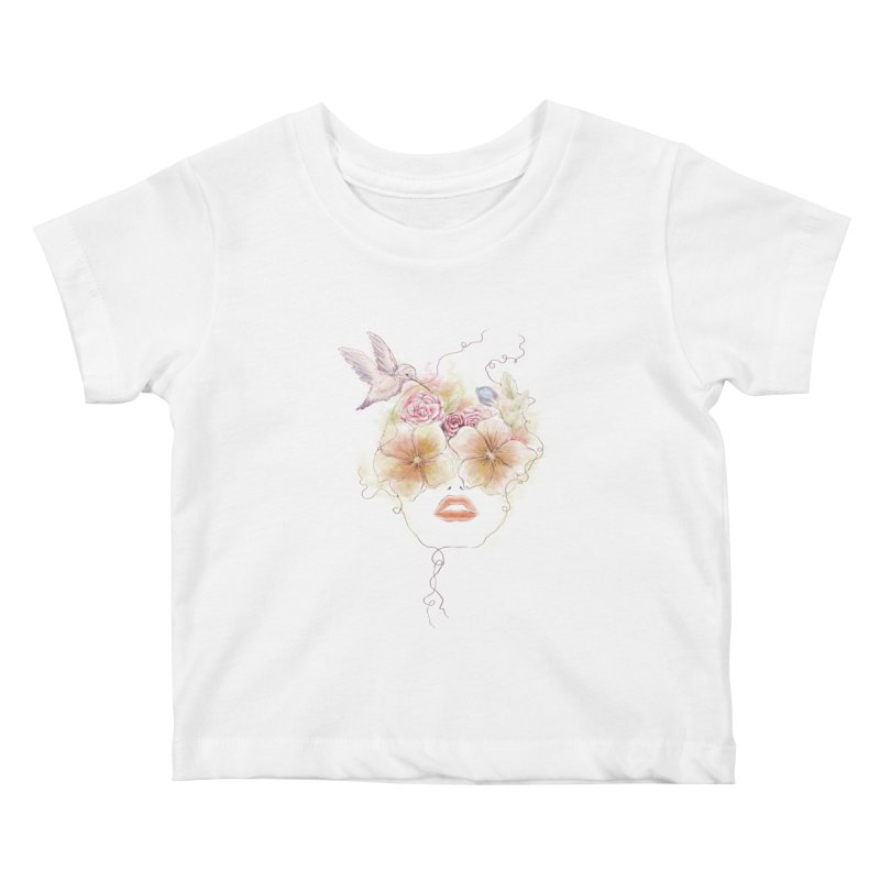 In Full Bloom Kids Baby T-Shirt by Winterglaze's Artist Shop