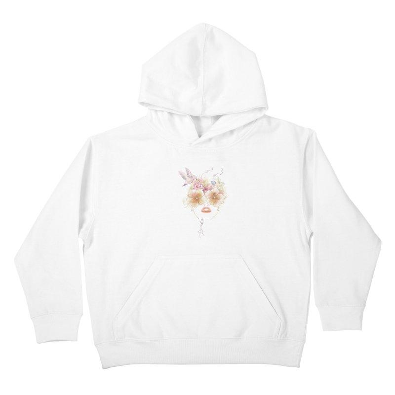 In Full Bloom Kids Pullover Hoody by Winterglaze's Artist Shop