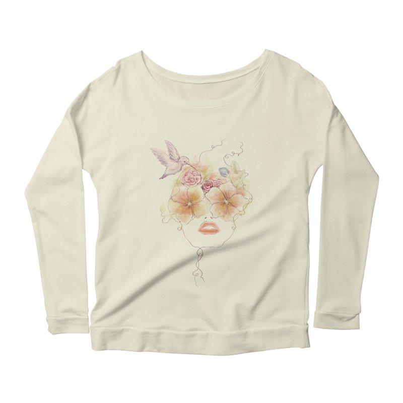 In Full Bloom Women's Longsleeve Scoopneck  by Winterglaze's Artist Shop