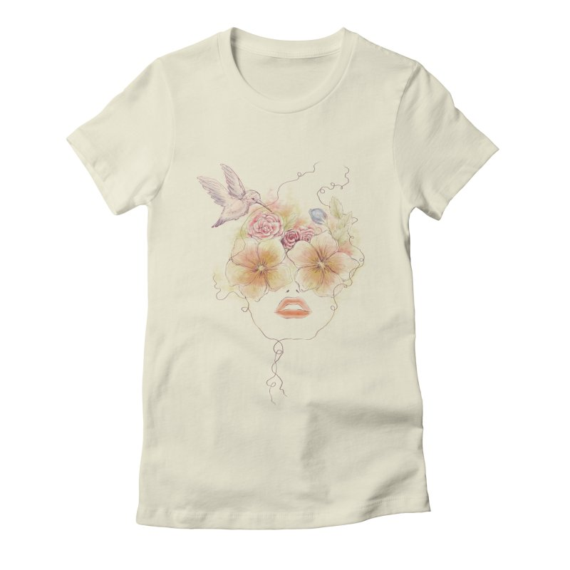 In Full Bloom Women's Fitted T-Shirt by Winterglaze's Artist Shop