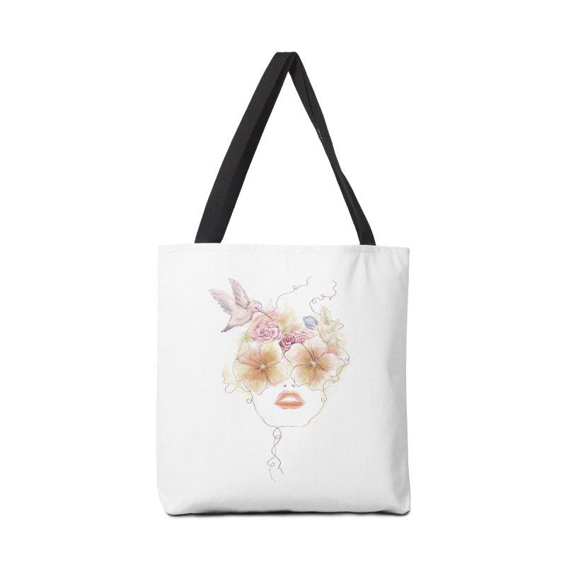 In Full Bloom Accessories Bag by Winterglaze's Artist Shop