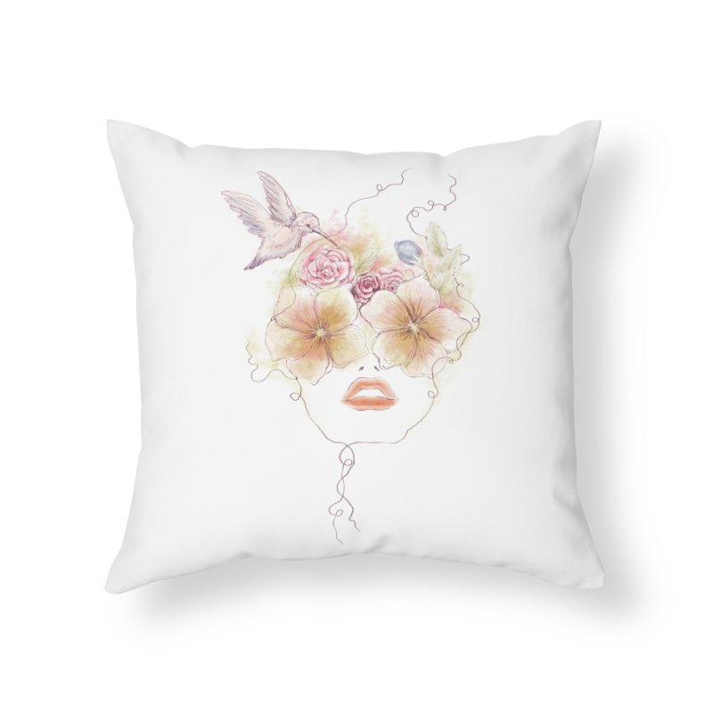 In Full Bloom Home Throw Pillow by Winterglaze's Artist Shop