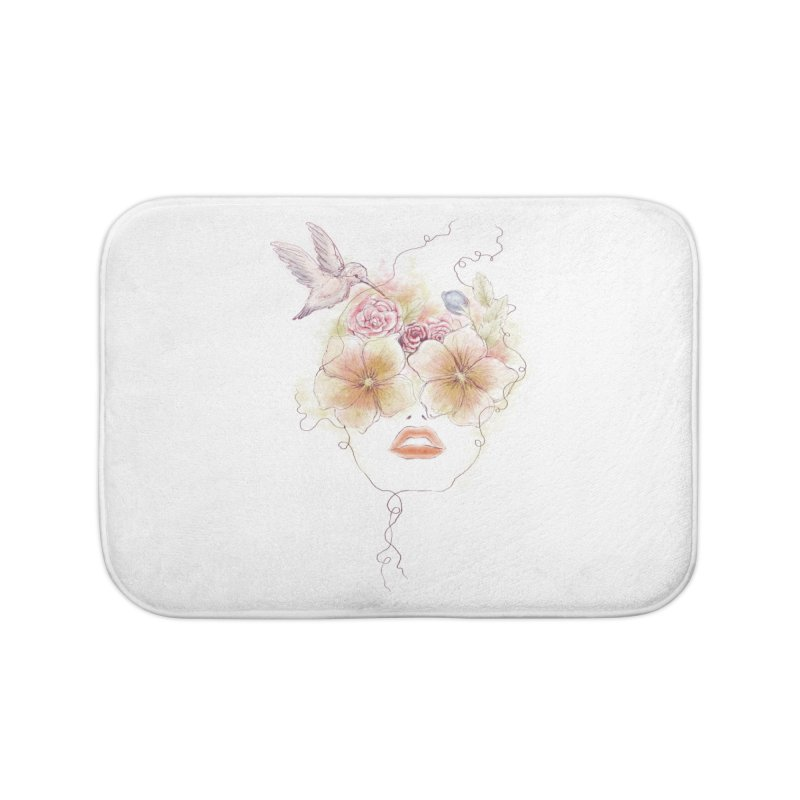 In Full Bloom Home Bath Mat by Winterglaze's Artist Shop