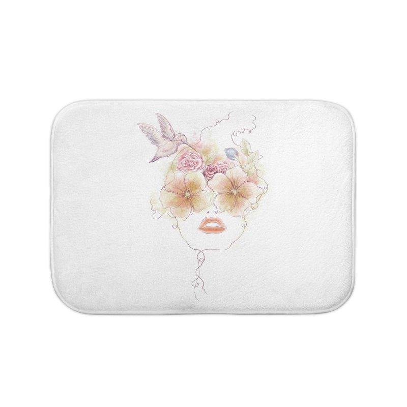 In Full Bloom Home Bath Mat by Winterglaze's Artist Shop