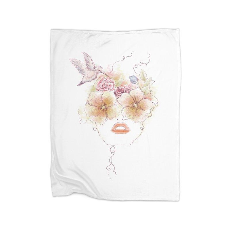 In Full Bloom Home Blanket by Winterglaze's Artist Shop