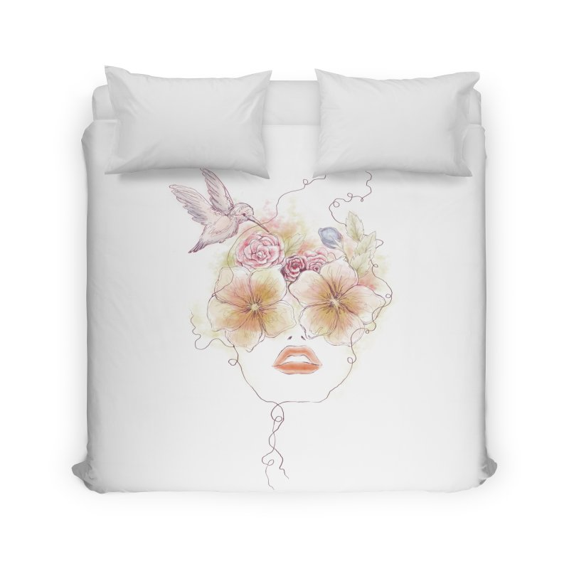 In Full Bloom Home Duvet by Winterglaze's Artist Shop