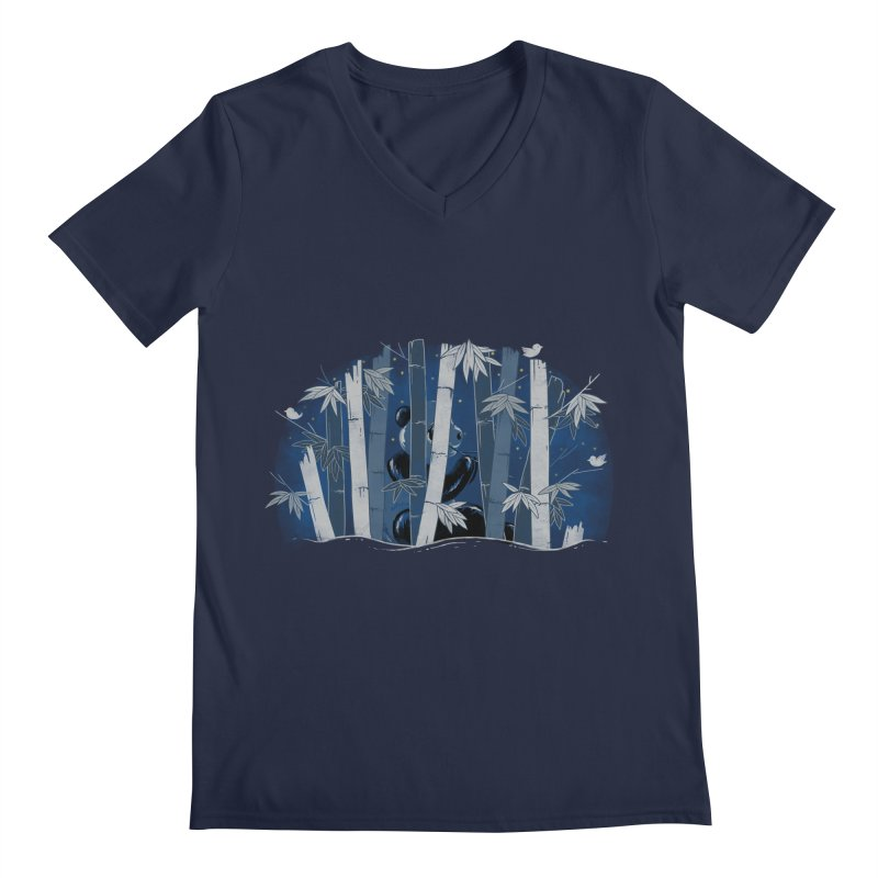 Midnight Snack Men's V-Neck by Winterglaze's Artist Shop