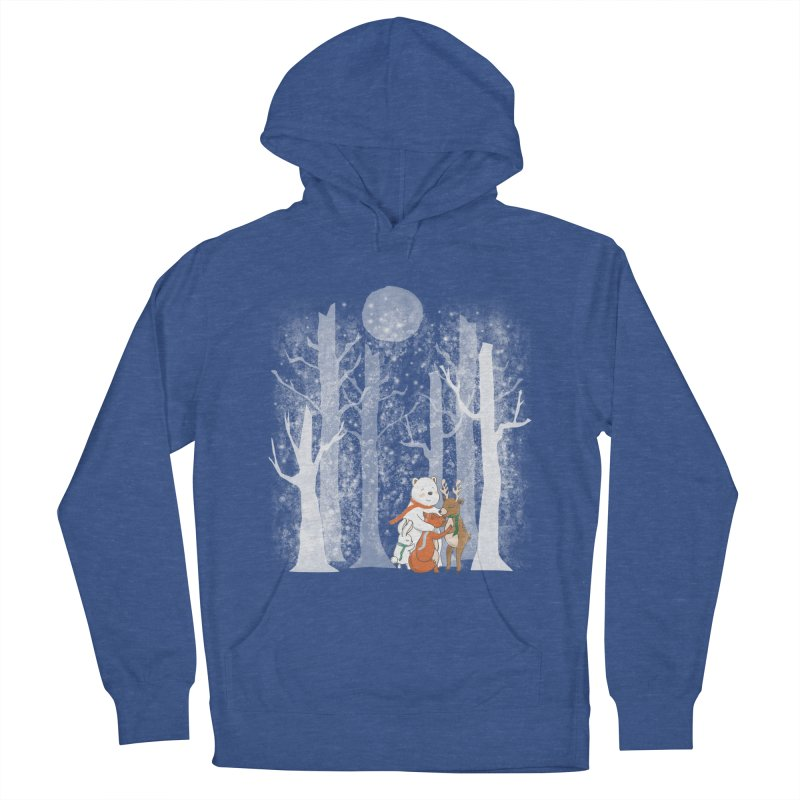 When it's cold outside Women's French Terry Pullover Hoody by Winterglaze's Artist Shop