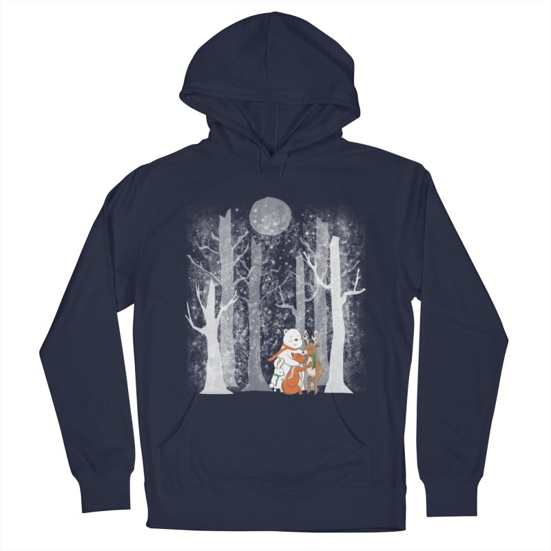 When it's cold outside Men's French Terry Pullover Hoody by Winterglaze's Artist Shop
