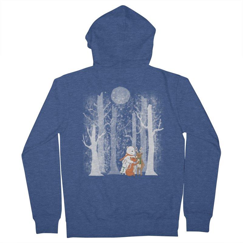When it's cold outside Women's French Terry Zip-Up Hoody by Winterglaze's Artist Shop
