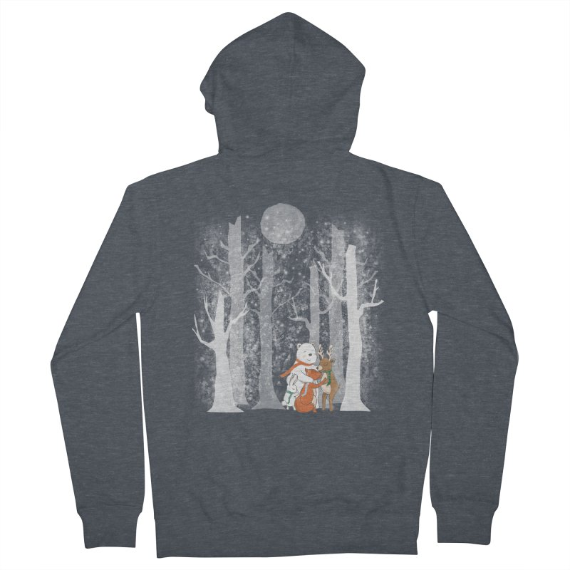 When it's cold outside Men's French Terry Zip-Up Hoody by Winterglaze's Artist Shop