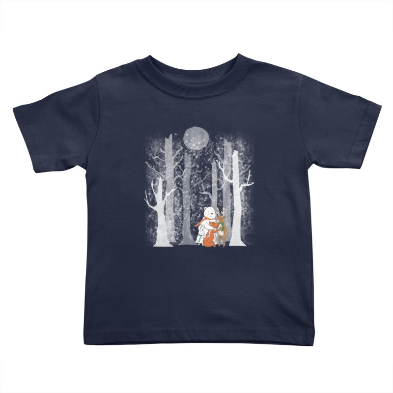 When it's cold outside Kids Toddler T-Shirt by Winterglaze's Artist Shop