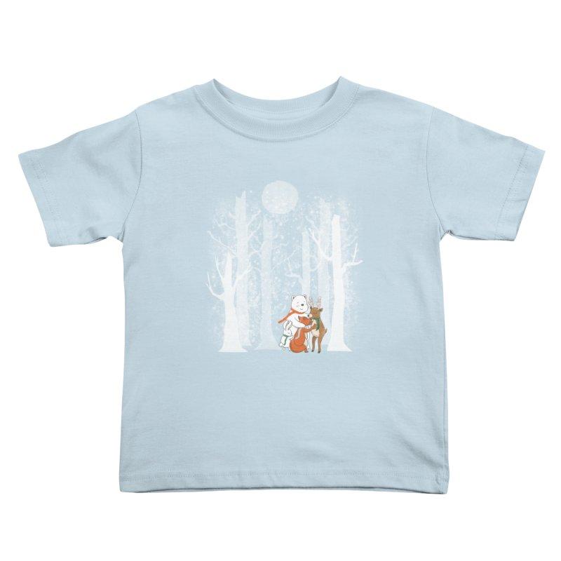 When it's cold outside Kids Toddler T-Shirt by Winterglaze's Artist Shop