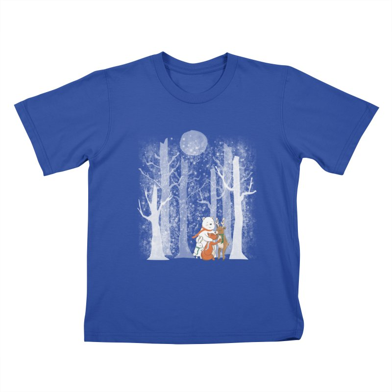 When it's cold outside Kids T-Shirt by Winterglaze's Artist Shop