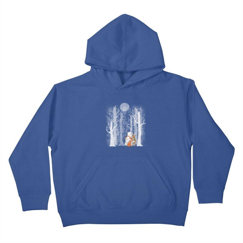 When it's cold outside Kids Pullover Hoody by Winterglaze's Artist Shop