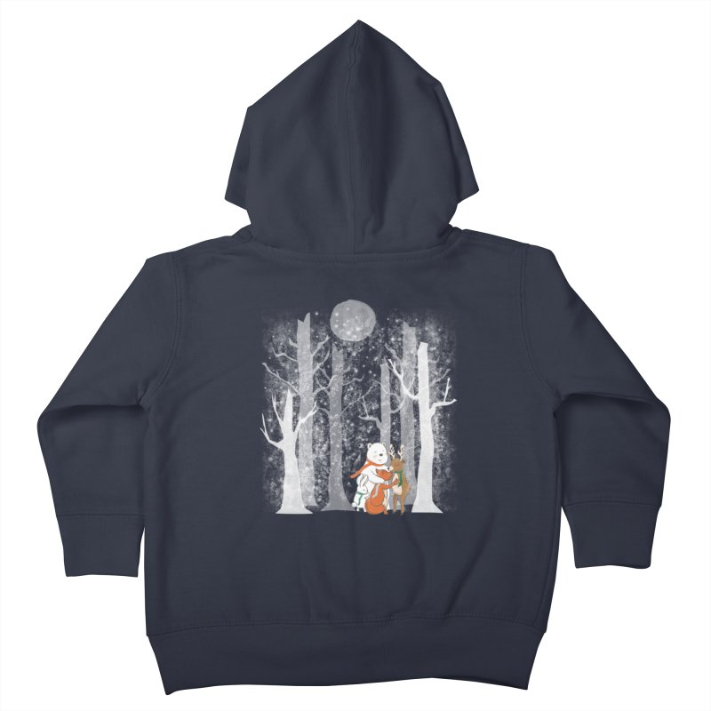 When it's cold outside Kids Toddler Zip-Up Hoody by Winterglaze's Artist Shop