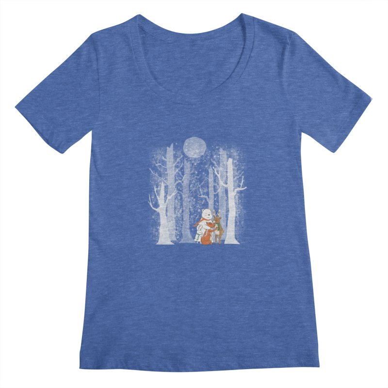 When it's cold outside Women's Regular Scoop Neck by Winterglaze's Artist Shop