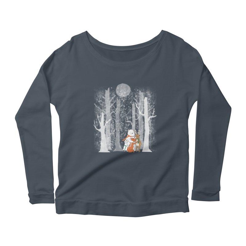 When it's cold outside Women's Scoop Neck Longsleeve T-Shirt by Winterglaze's Artist Shop