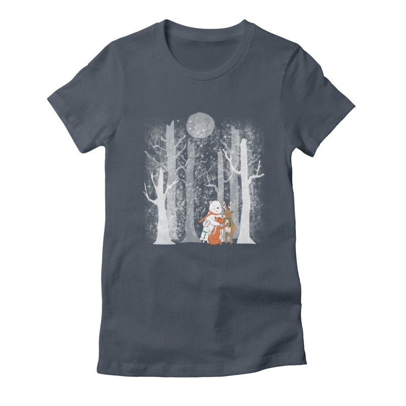 When it's cold outside Women's Fitted T-Shirt by Winterglaze's Artist Shop