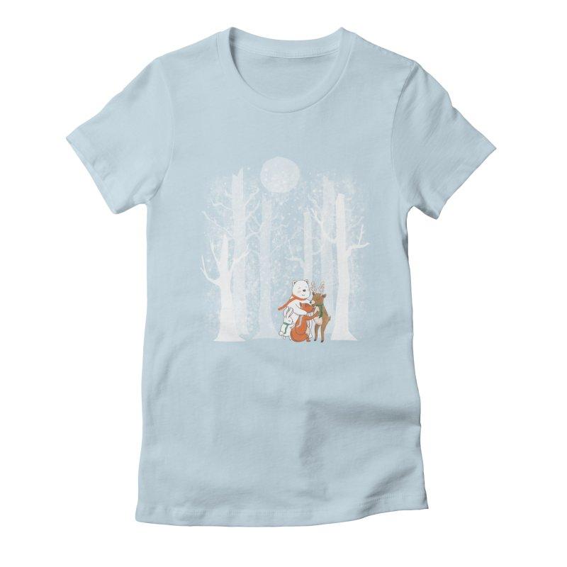 When it's cold outside Women's Fitted T-Shirt by Winterglaze's Artist Shop