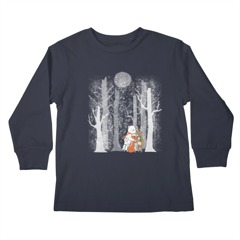 When it's cold outside Kids Longsleeve T-Shirt by Winterglaze's Artist Shop