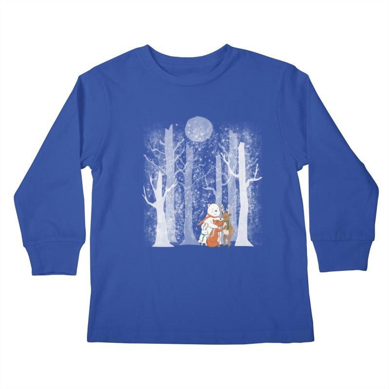 When it's cold outside Kids Longsleeve T-Shirt by Winterglaze's Artist Shop