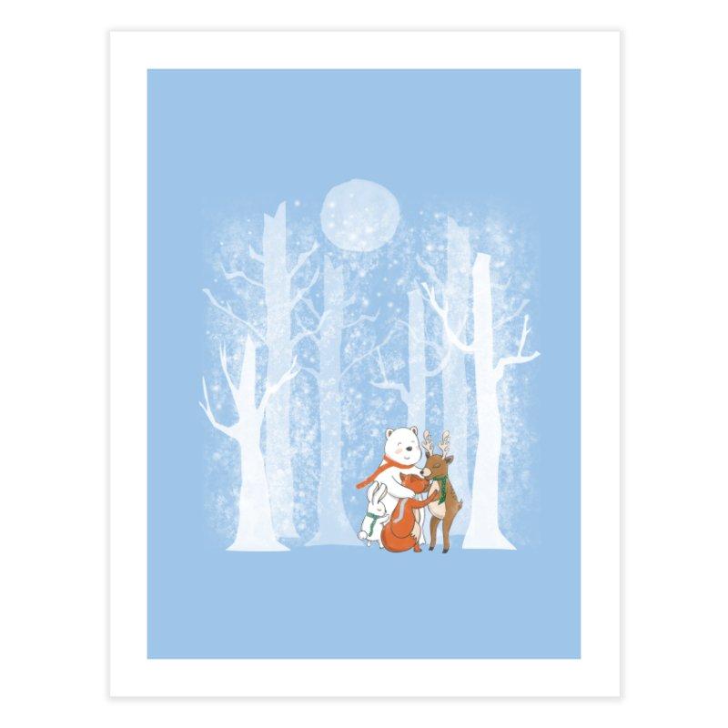 When it's cold outside Home Fine Art Print by Winterglaze's Artist Shop
