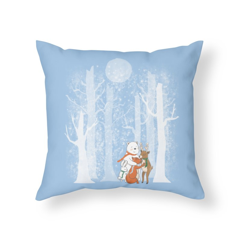When it's cold outside Home Throw Pillow by Winterglaze's Artist Shop