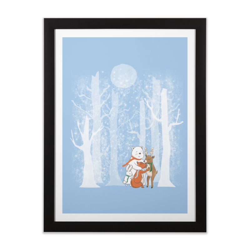 When it's cold outside Home Framed Fine Art Print by Winterglaze's Artist Shop