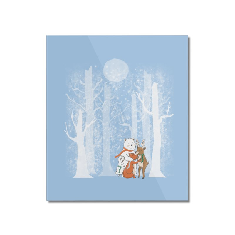 When it's cold outside Home Mounted Acrylic Print by Winterglaze's Artist Shop