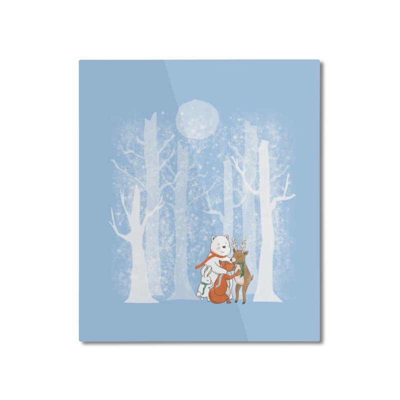 When it's cold outside Home Mounted Aluminum Print by Winterglaze's Artist Shop