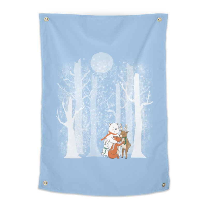When it's cold outside Home Tapestry by Winterglaze's Artist Shop