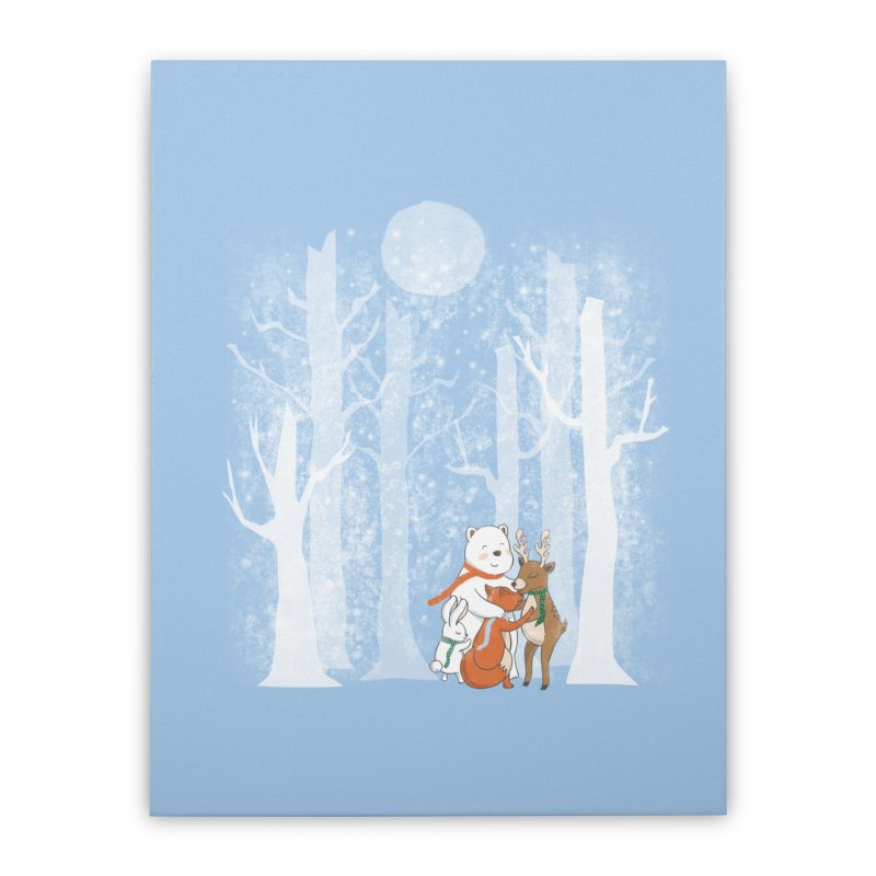 When it's cold outside Home Stretched Canvas by Winterglaze's Artist Shop
