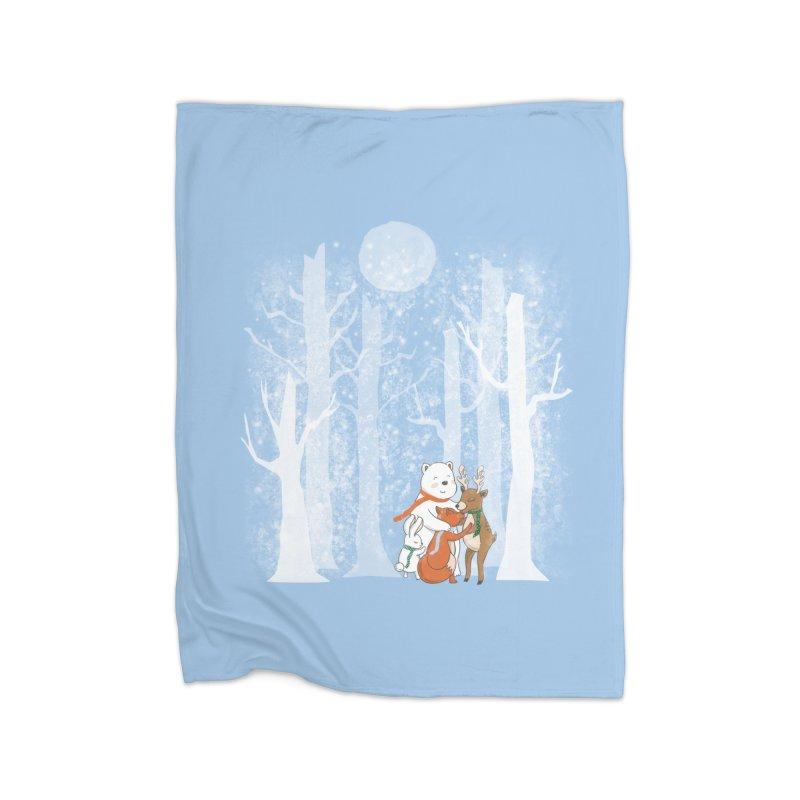 When it's cold outside Home Blanket by Winterglaze's Artist Shop