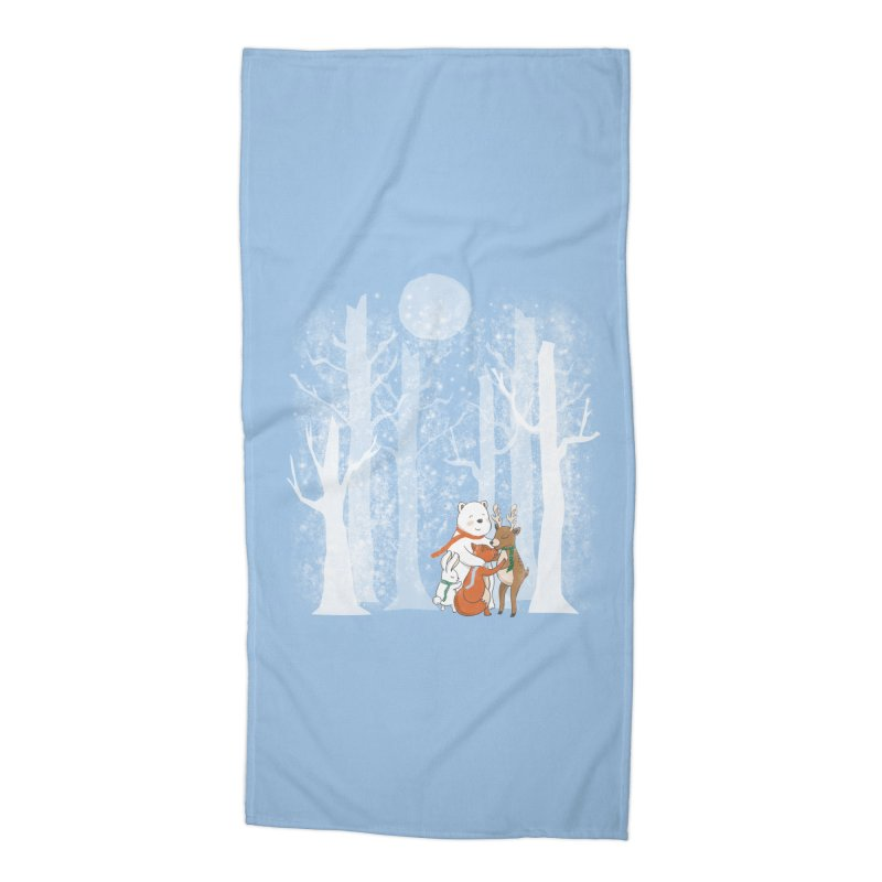 When it's cold outside Accessories Beach Towel by Winterglaze's Artist Shop