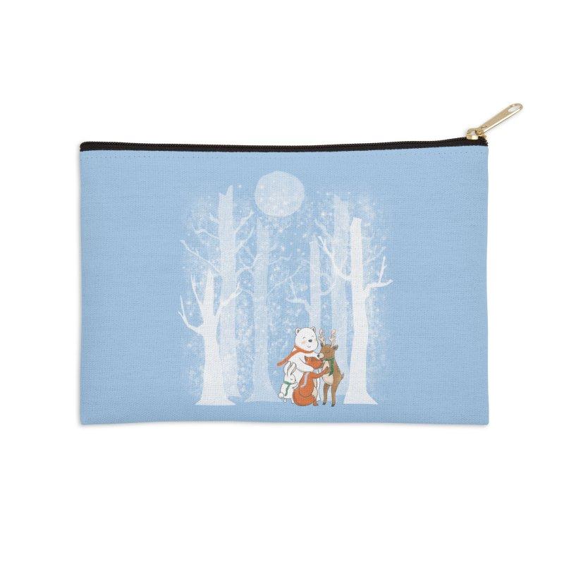 When it's cold outside Accessories Zip Pouch by Winterglaze's Artist Shop