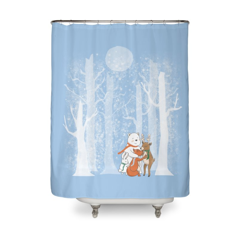 When it's cold outside Home Shower Curtain by Winterglaze's Artist Shop