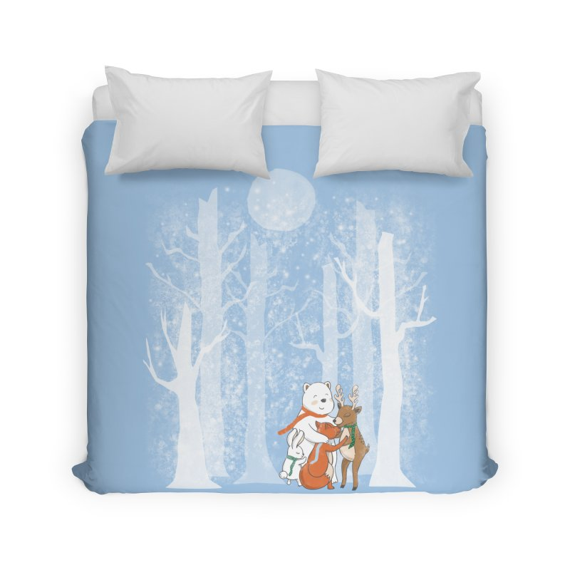 When it's cold outside Home Duvet by Winterglaze's Artist Shop