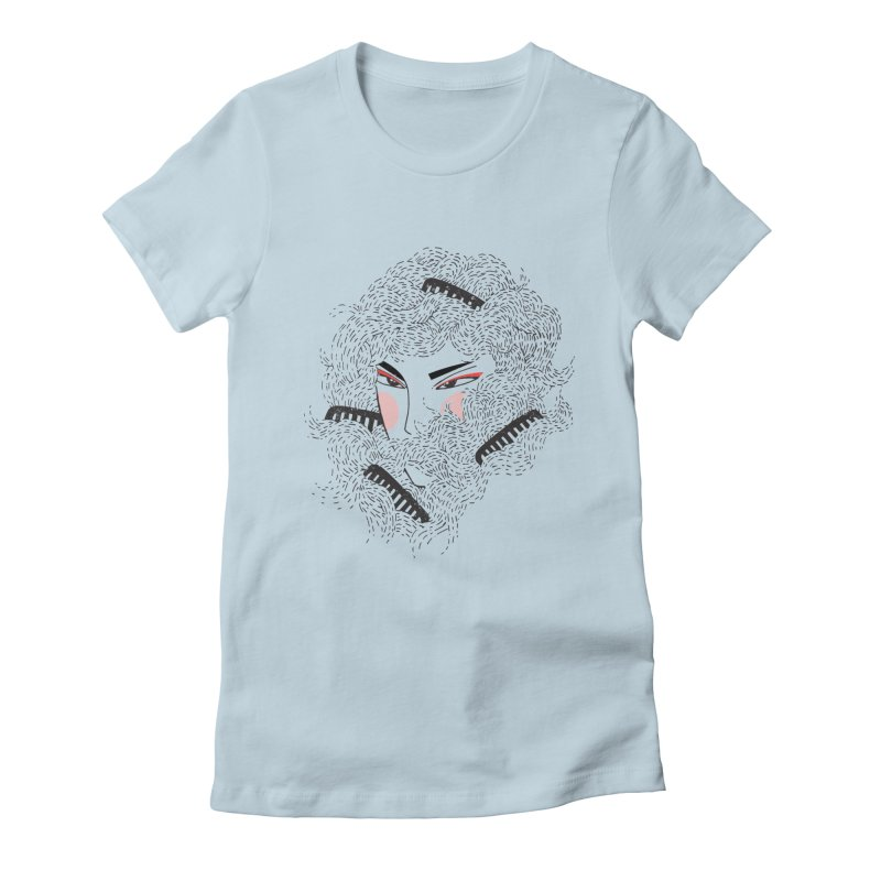 Tangled Women's Fitted T-Shirt by Winterglaze's Artist Shop