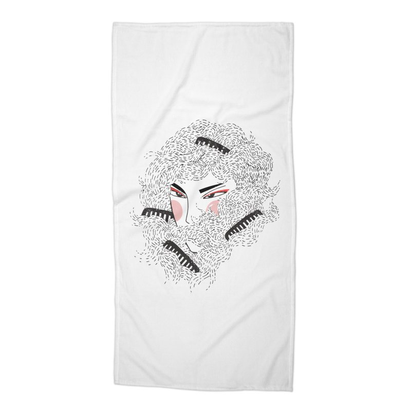 Tangled Accessories Beach Towel by Winterglaze's Artist Shop