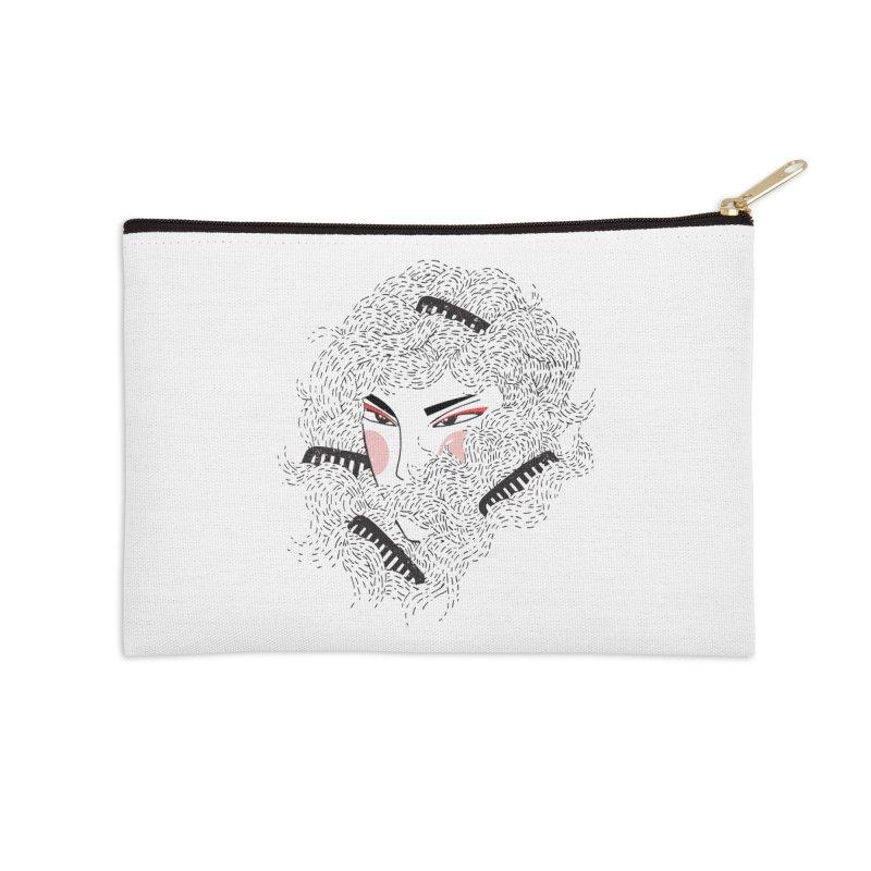 Tangled Accessories Zip Pouch by Winterglaze's Artist Shop