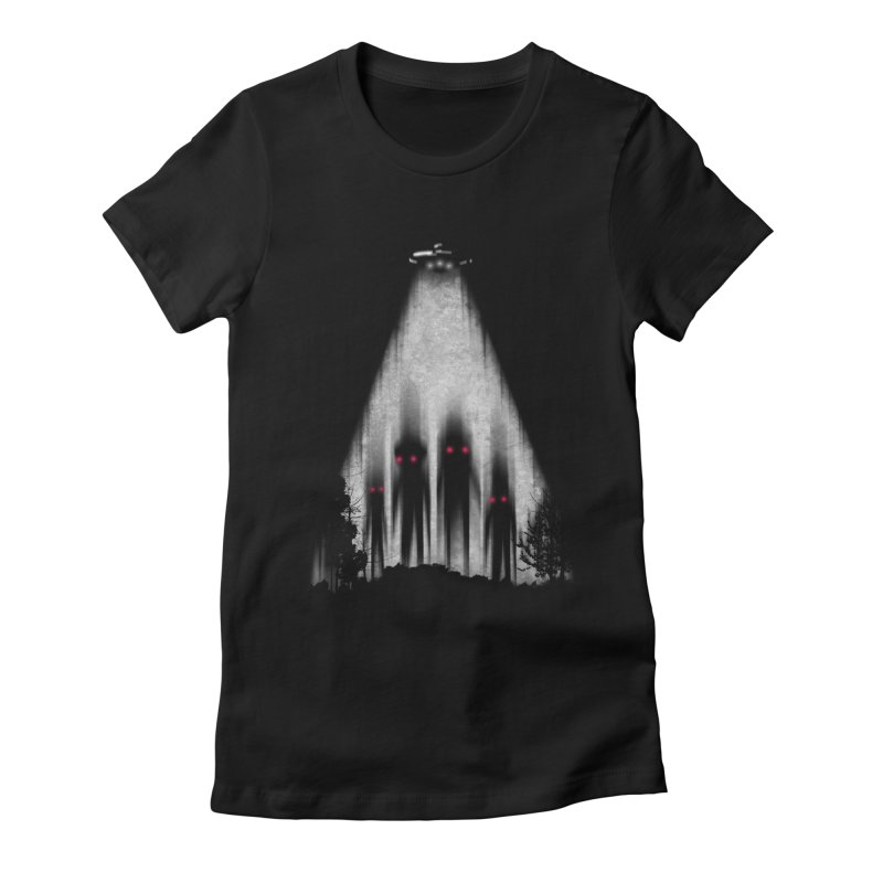 We Come In Peace Women's Fitted T-Shirt by Winterglaze's Artist Shop
