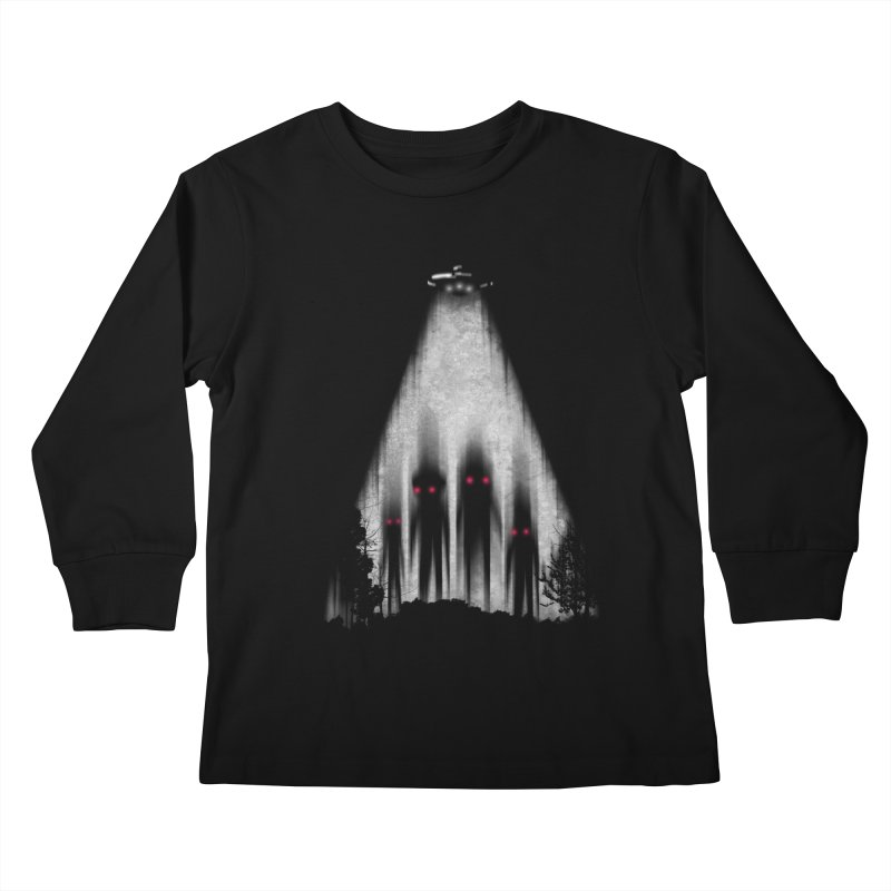 We Come In Peace Kids Longsleeve T-Shirt by Winterglaze's Artist Shop
