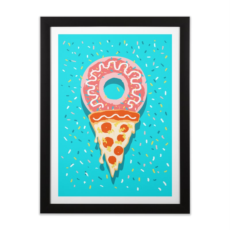 I LOVE ICE CREAM Home Framed Fine Art Print by Winterglaze's Artist Shop