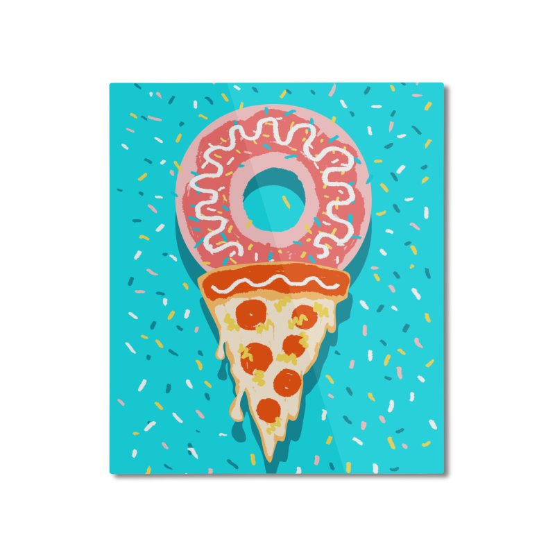 I LOVE ICE CREAM Home Mounted Aluminum Print by Winterglaze's Artist Shop