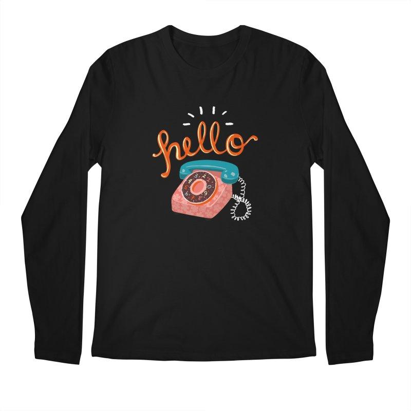 hello Men's Regular Longsleeve T-Shirt by Winterglaze's Artist Shop