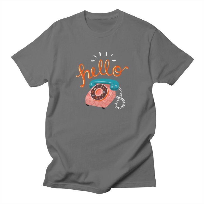 hello Men's Regular T-Shirt by Winterglaze's Artist Shop