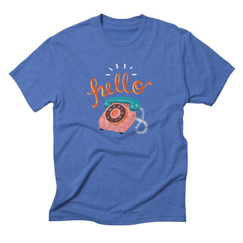 hello Men's Triblend T-Shirt by Winterglaze's Artist Shop