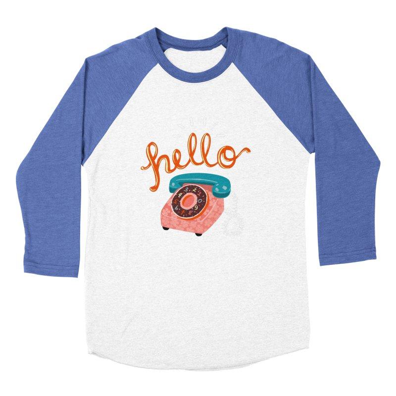 hello Men's Baseball Triblend Longsleeve T-Shirt by Winterglaze's Artist Shop